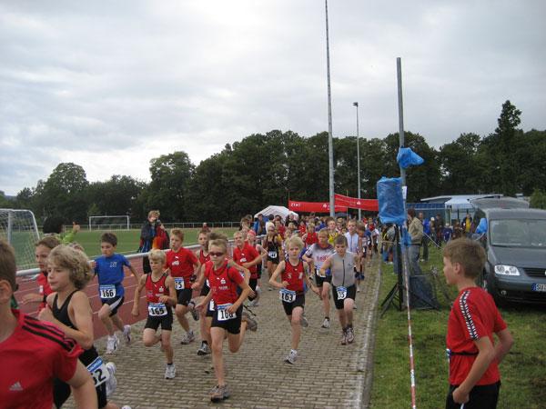 Start zum Duathlon in Rheinbach der Schülerinnen u. Schüler B